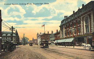 Central Square Looking West postcard
