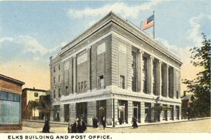 Elks Building and Post Office postcard
