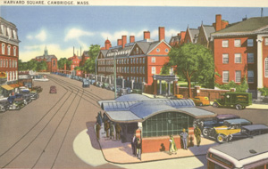 Harvard Square postcard