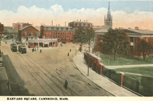 Harvard Square Looking West postcard