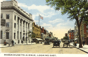 Mass. Ave. East postcard